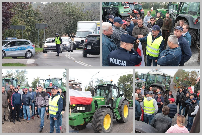 Protest rolników i blokada drogi krajowej 62, Osięciny, powiat Radziejów
