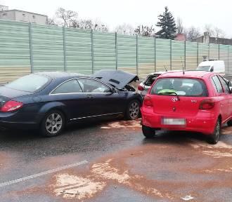 Wypadek na Jana Pawła w Łodzi ZDJĘCIA