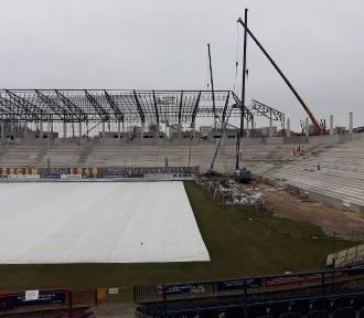 Postęp prac na stadionie Pogoni. Zobaczcie ZDJĘCIA z pierwszego półrocza 2020