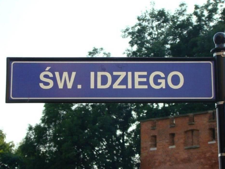 Nazwa od stojącego tam kościoła św