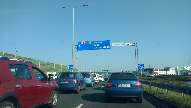 Korek na A4 w Katowicach 15 września 2020 r
