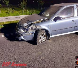 Wypadek na obwodnicy Inowrocławia [zdjęcia]
