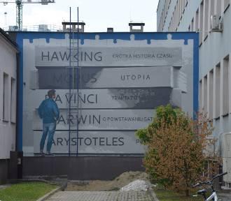 Powstaje mural na ścianach Uniwersytetu Rzeszowskiego [ZDJĘCIA]