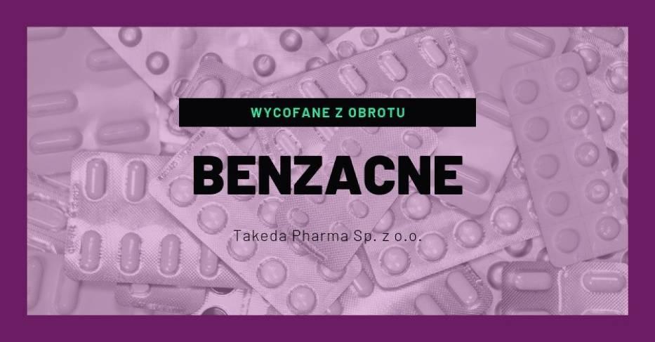 BENZACNE (Benzoylis peroxidum), 100 mg/g, żel- rodzaj decyzji: wycofane z obrotu- data ogłoszenia decyzji: 30