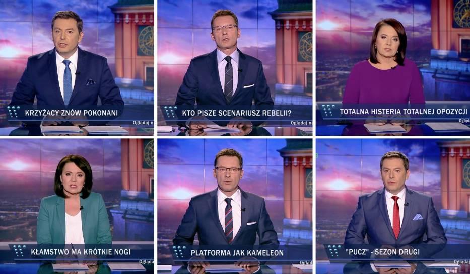 """Internet śmieje się z pasków w """"Wiadomościach"""" TVP"""