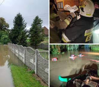 Ponad 600 interwencji strażaków przez deszcze. Zalane ulice i posesje