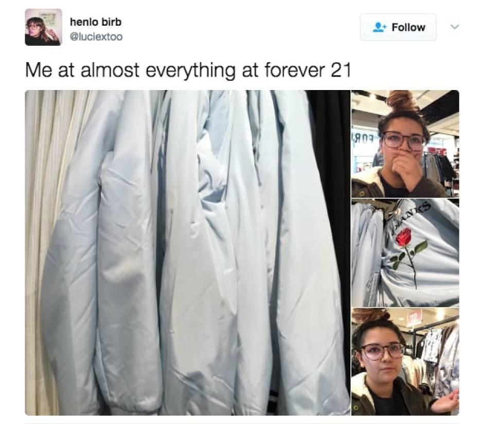 Ja na widok prawie każdej rzeczy w Forever 21