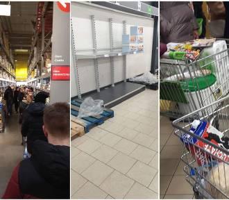 Długie kolejki w marketach. Sklepy przeżywają oblężenie