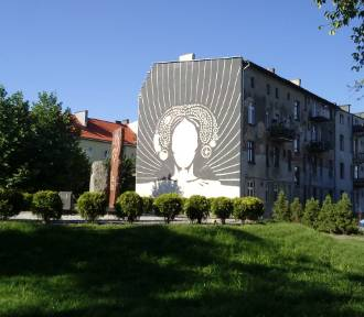 W Brodnicy powstaje mural Anny Wazówny. Zobaczcie, jak postępują prace! [zdjęcia]
