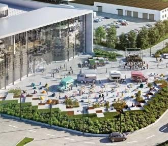 Rusza budowa placu przed Galerią Libero w Katowicach WIZUALIZACJE