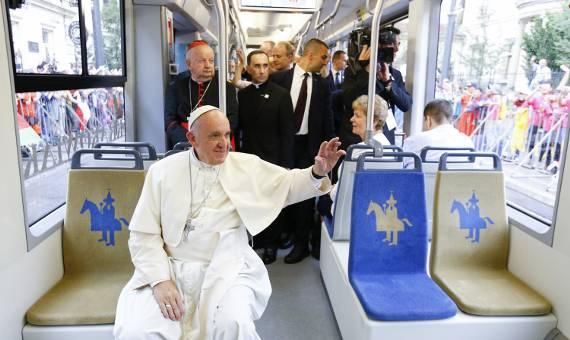 ŚDM. Tram del Papa - Franciszek jechał na Błonia krakowiakiem [ZDJĘCIA]