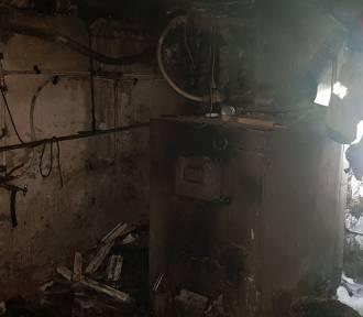 Paliła się kotłownia. Z ogniem walczyli strażacy z dwóch jednostek