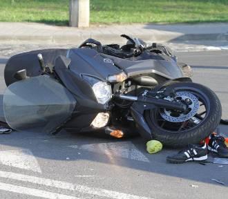 Motocyklista był nietrzeźwy i jechał zbyt szybko. Uległ wypadkowi i dostał pieniądze!