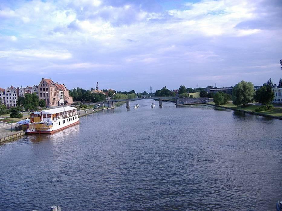 Fotografia ilustracyjna-rzeka Elbląg