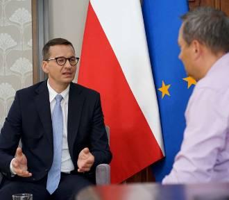 Premier Mateusz Morawiecki udzielił wywiadu redakcji Ziemi Kaliskiej. ZDJĘCIA