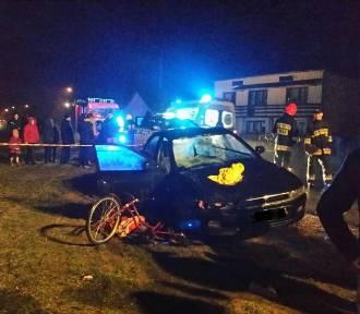 Tragiczny wypadek rowerzystki w Przyłęku