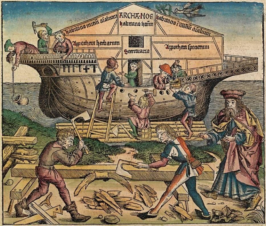 Budowa Arki, Kronika norymberska (1493 r)
