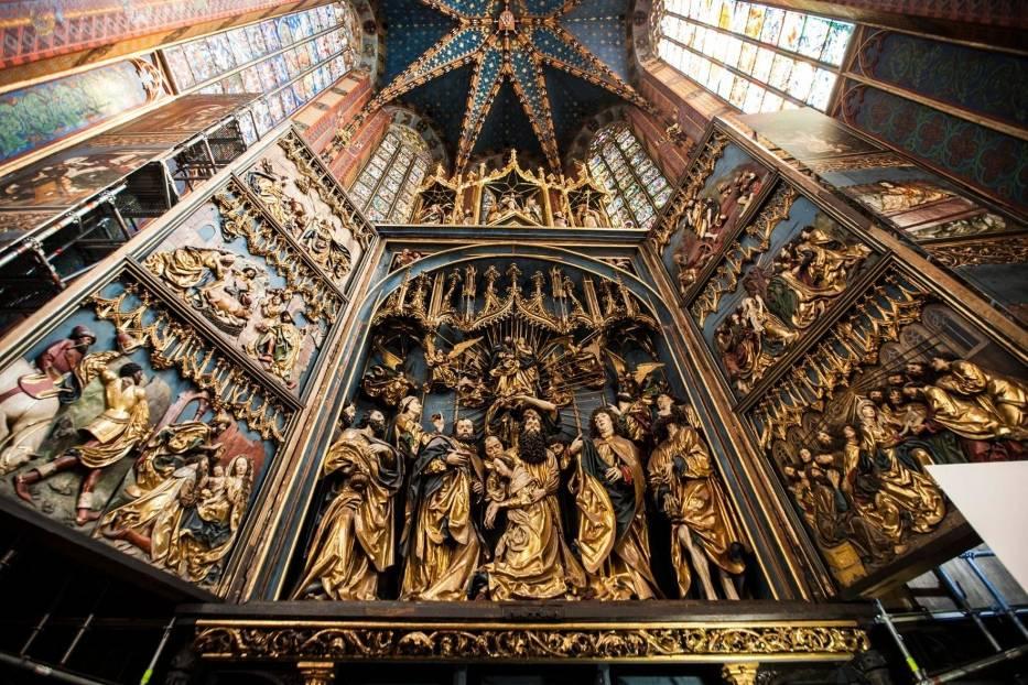 Oltarz Wita Stwosza w kościele mariackim