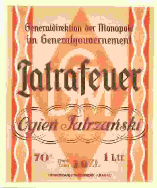 """""""Tatrafeuer - """"ogień tatrzański"""", 70-proc"""