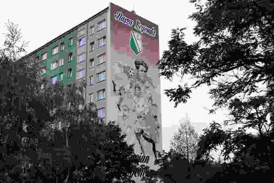 Odsłonięto mural dla legendy Legii