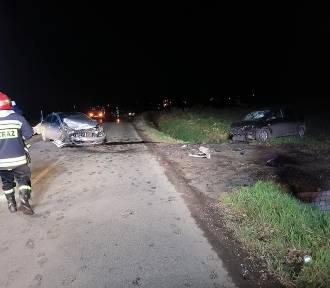 Wypadek za obwodnicą Nysy. Między Wyszkowem Śląskim i Kubicami zderzyły się dwa auta
