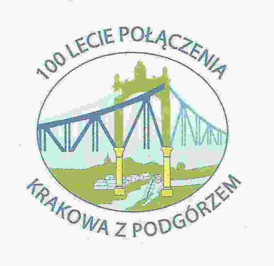 Logo 100 lecie połączenia Krakowa z Podgórzem