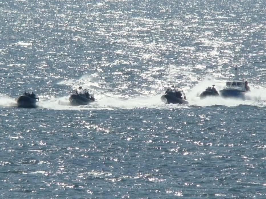 Uważni obserwatorzy morza mogli zauważyć niecodzienną kawalkadę jednostek pływających