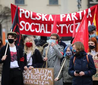 Demonstracja w rocznice Międzynarodowego Dnia Solidarności Ludzi Pracy [ZDJĘCIA]