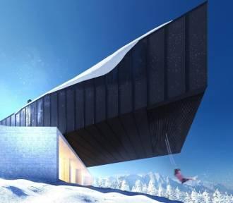 Pod Krakowem powstaje surrealistyczny dom. Wygląda tak, jakby zaraz miał się zawalić