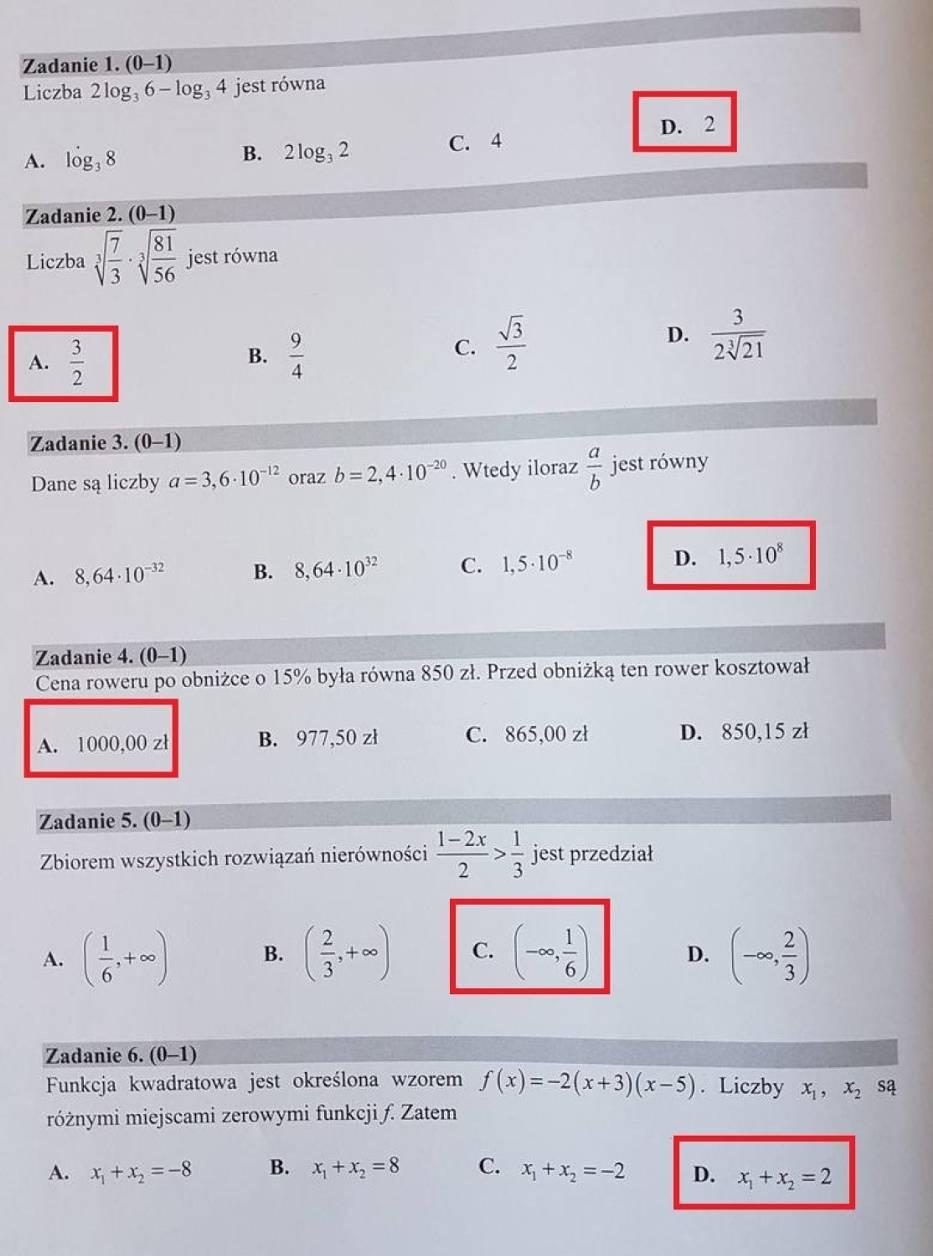 Matura z matematyki 2018 - rozwiązane arkusze CKE