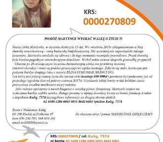 Możesz pomóc! 13-letnia Martynka potrzebuje pomocy. Walczy o życie. Ma mało czasu