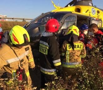 Wypadek na A1. Autokar z dziećmi spod Żywca wypadł z jezdni