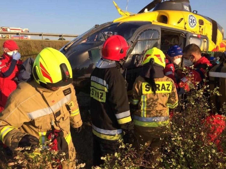 Wypadek autokaru z dziećmi na A1 koło Tczewa