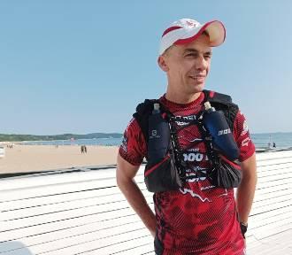 Ultramaratończyk ruszył z Sopotu po rekord Guinnessa