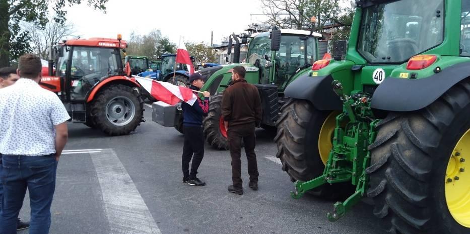 Protest w Osięcinach