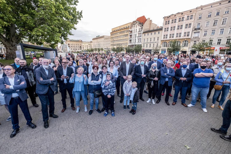 Wieczór wyborczy sympatyków Rafała Trzaskowskiego w Poznaniu