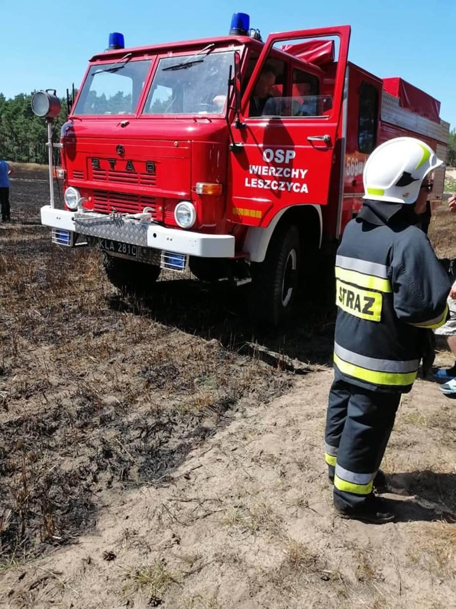 Pożar w miejscowości Leszczyca