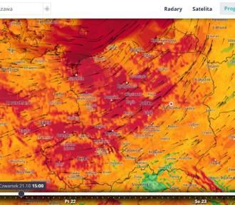 Silny wiatr w Bełchatowie i powiecie bełchatowskim