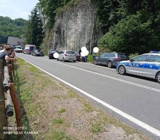 Zlot tuningowanych aut zakończony wypadkiem, policjant został ranny