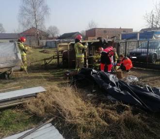 Tragiczny pożar trawy w Jankowie Drugim. Nie żyje 69-letni mężczyzna. ZDJĘCIA