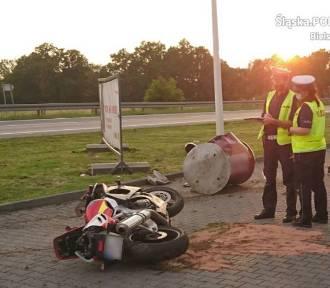 Pościg policyjny za motocyklistą w Czechowicach-Dziedzicach. Doszło do wypadku. Lądował śmigłowiec