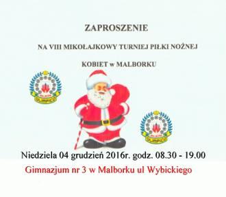 W niedzielę Mikołajkowy Turniej Piłki Nożnej Kobiet w Malborku