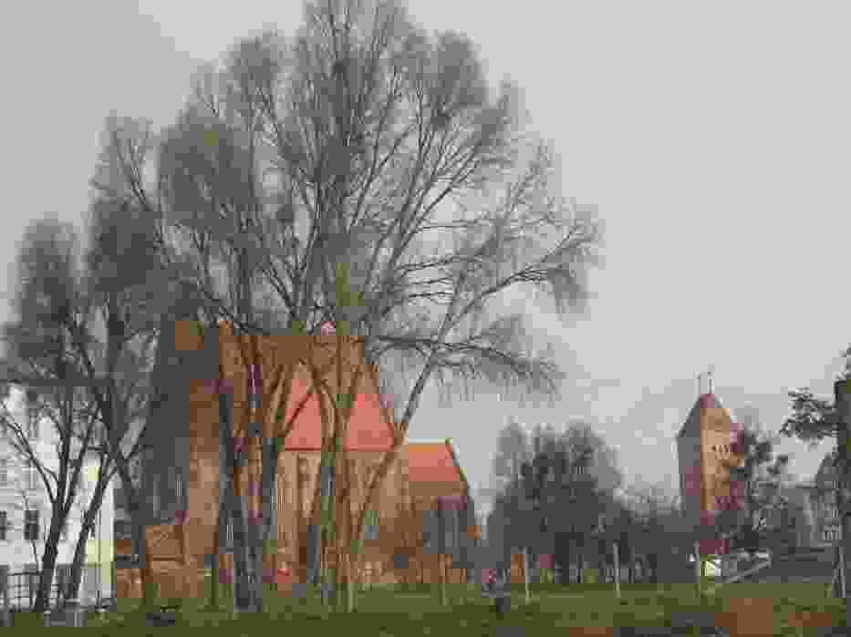 Przez dziesiątki lat po zniszczeniach wojennych na miejscu pięknej zabudowy staromiejskiej Elbląga  był wielki trawnik