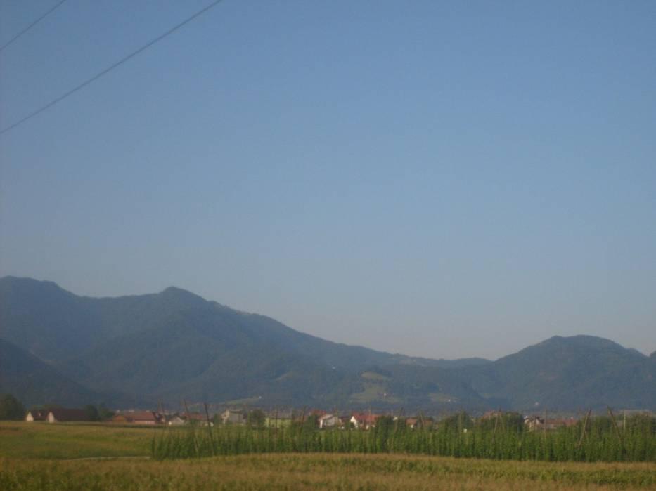 Droga do Lublany wiedzie wzdłuż Alp Julijskich