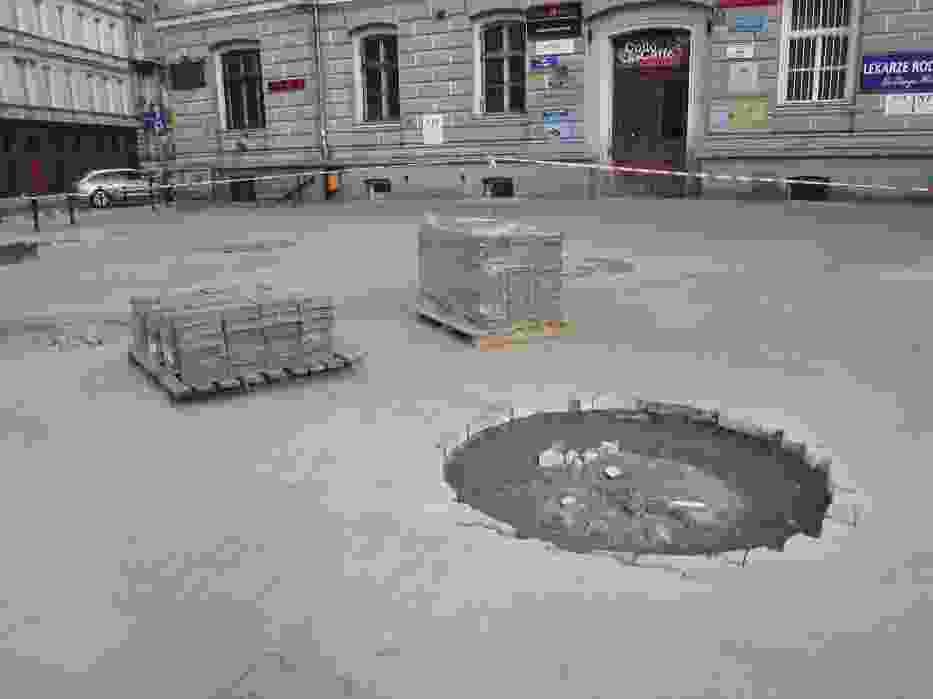 Skwery w Poznaniu: Na Taczaka prace ruszą znów po świętach