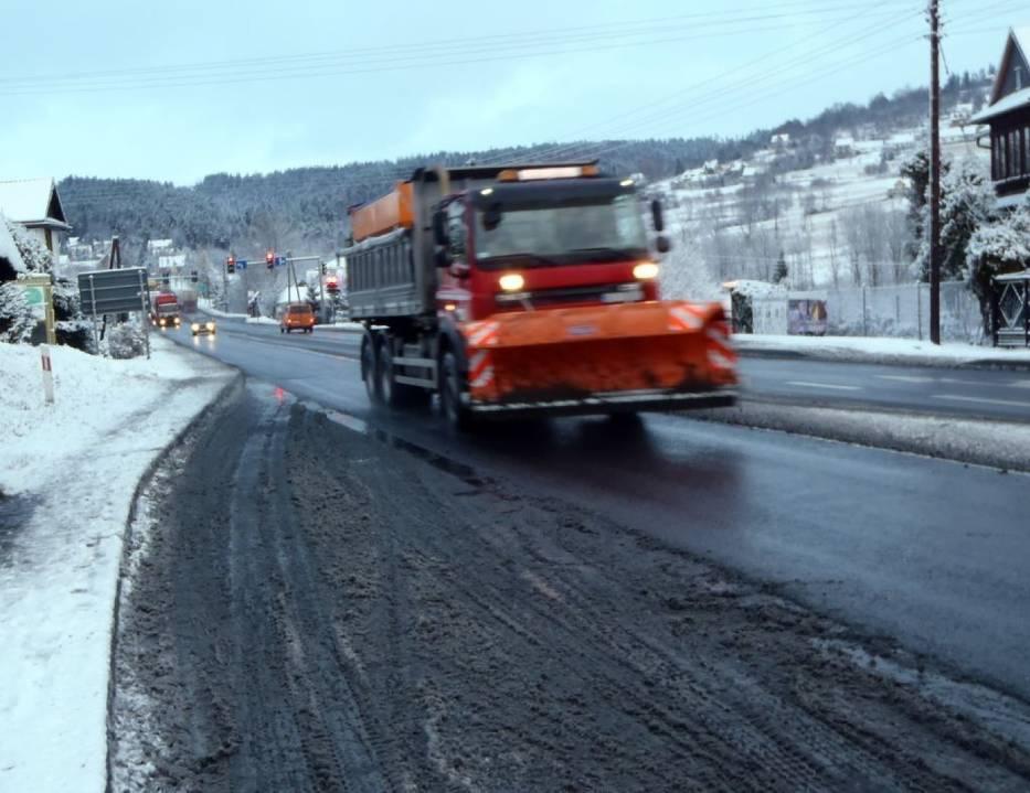 Zima na Podhalu nie zaskoczyła w tym roku służb drogowych