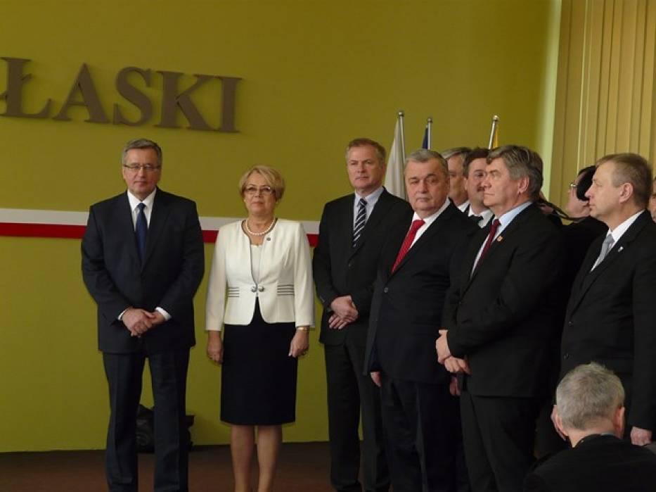 Prezydent Bronisław Komorowski w Łasku