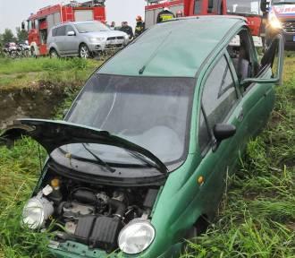 Wypadek na drodzę między Kościanem a Racotem ZDJĘCIA