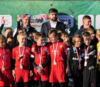 Młodzi piłkarze walczyli na stadionie w Chełmie
