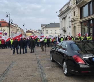 Nasi rolnicy też protestują w Warszawie